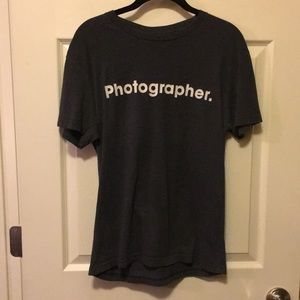 Photographer shirt from the Polaroid store